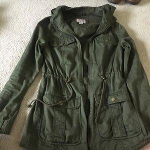 Hooded anorak/utility jacket